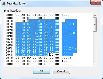 MFC Hex Editor Control